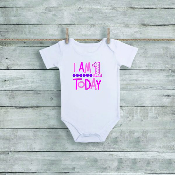 Personalised Baby Grow, 1st Birthday gift, Baby Grow, Birthday present, unique gift, personalised gift, 1st Birthday, 1st Birthday Baby Grow