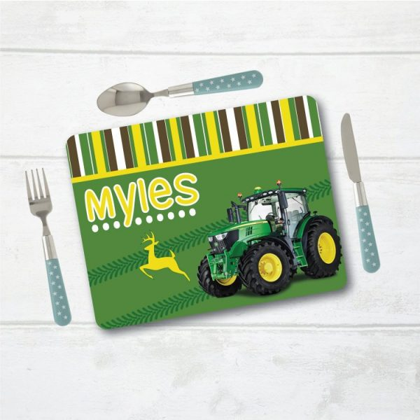 Personalised Placemat, Tractor Placemat, Table Setting, Table Place Setting, Mat with Name, Place Setting with Name, Table Mat, Tractors
