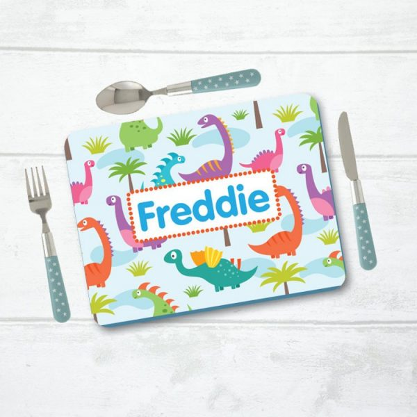 Personalised Placemat, Dinosaur Placemat, Table Setting, Table Place Setting, Mat with Name, Place Setting with Name, Table Mat, Dinosaur