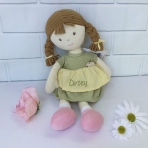 Personalised Rag Doll, Personalised Doll, Rag doll, Dolly, Girls Doll, Girls Gift, unique present, embroidered doll