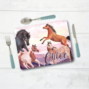 Personalised Placemat, Horse Placemat, Table Setting, Table Place Setting, Mat with Name, Place Setting with Name, Table Mat, Horse