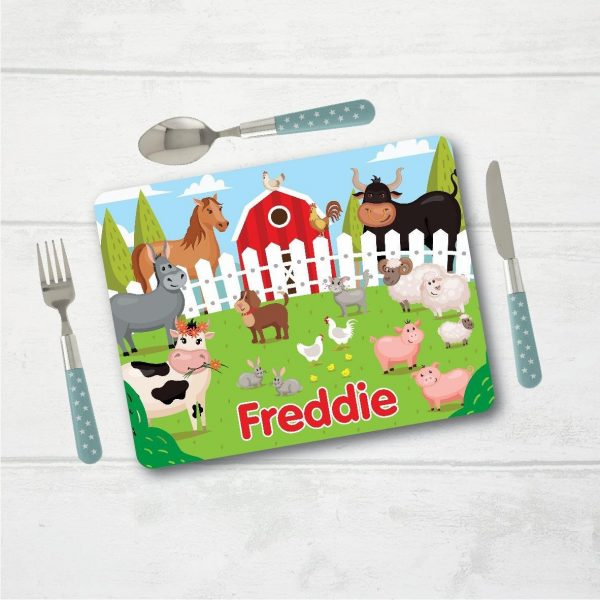 Personalised Placemat, Farm Placemat, Table Setting, Table Place Setting, Mat with Name, Place Setting with Name, Table Mat, Farm, Farmyard